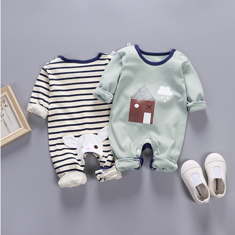13545082490c 2019Newborn baby clothes 100% Cotton Long Sleeve Spring Autumn Baby Rompers  Soft Infant Clothing toddler baby boy girl jumpsuits